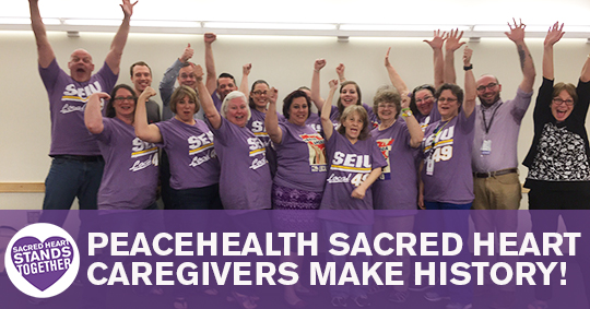 Sacred Heart Victory Bargaining Team