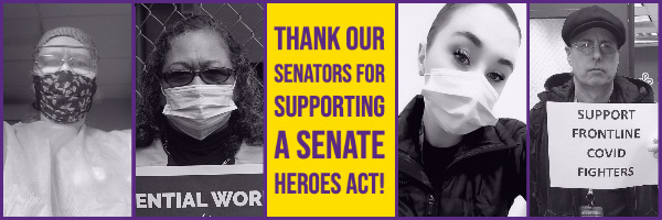 Let's thank our OR and WA Senators for publicly supporting a strong HEROES Act!